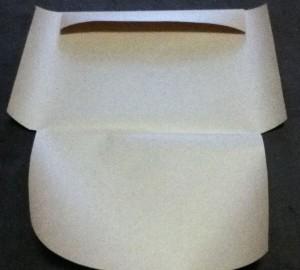 クラフト紙自作封筒折り目