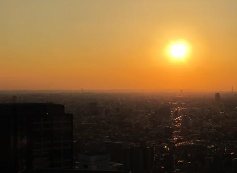 夕日の街イメージ