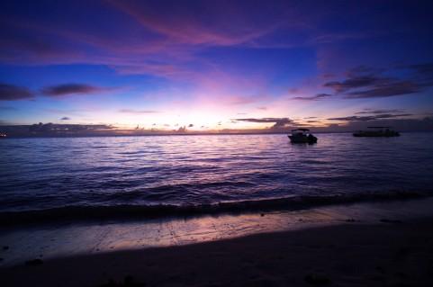 海の夕焼け空