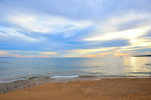 海岸夕日イメージ