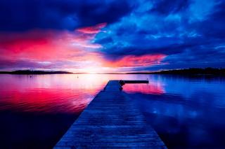 スウェーデン夜明けイメージ